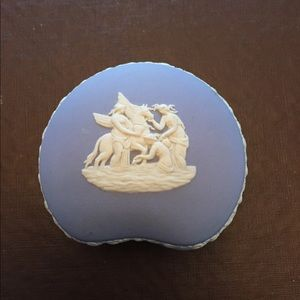 Vintage Wedgewood Blue Jasperware Trinket Box